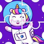 Cute Rainbow Unicorn Puzzles