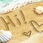 Draw Write on Sand
