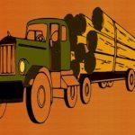 Logging Trucks Coloring
