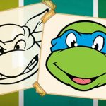 Ninja Turtles Coloring Book