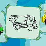 Truck Coloring Book